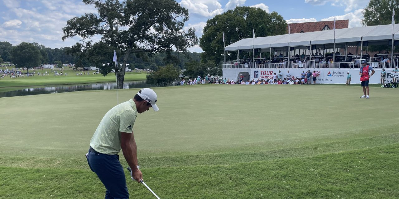 Cantlay narrowly defeats Rahm to win 2021 Tour Championship