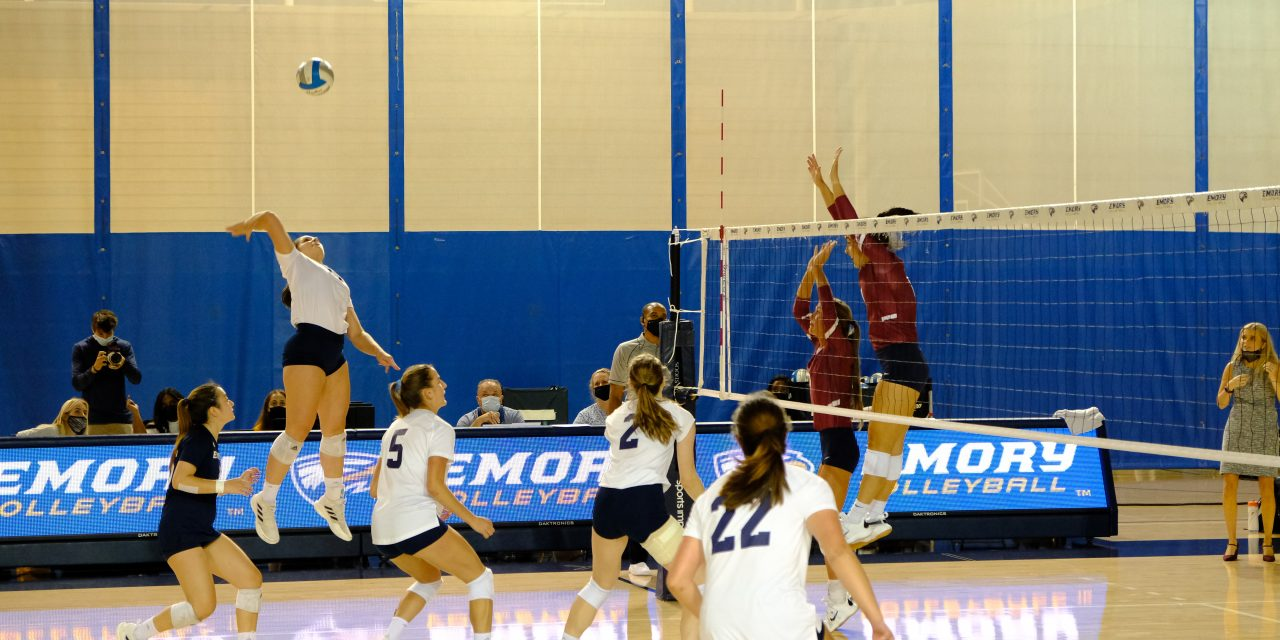 Volleyball picks up first conference loss of year in UAA Round Robin