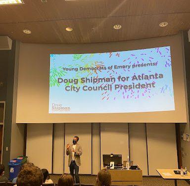 Atlanta City Council President Candidate Doug Shipman visits campus